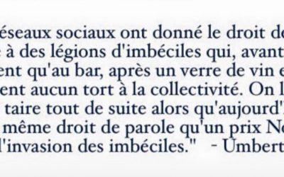Quand Umberto #Eco parlait des réseaux sociaux